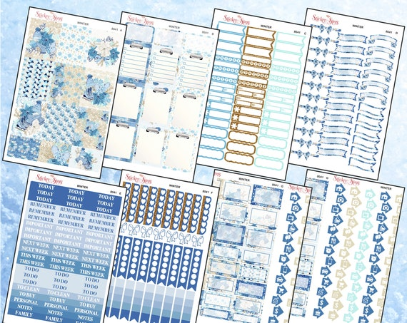 Winter Color Kit Planner Stickers Set | 8041