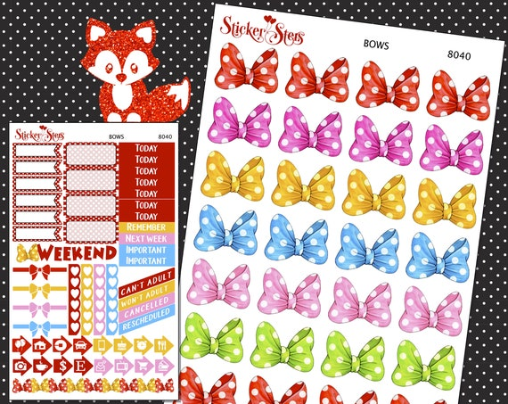 Bows Planner Stickers Mini Kit | 8040