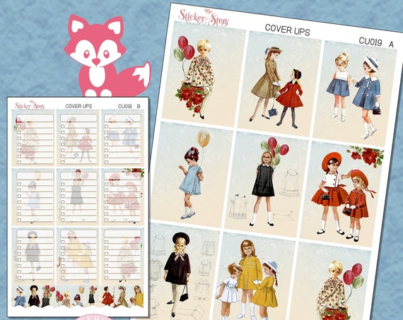 Ephemera Ver. 10 Planner Cover Ups Stickers Kit CU019