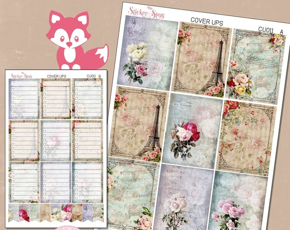 Ephemera Ver. 2 Planner Cover Ups Stickers Kit CU011