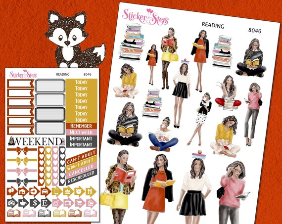 Reading Planner Stickers Mini Kit 8046