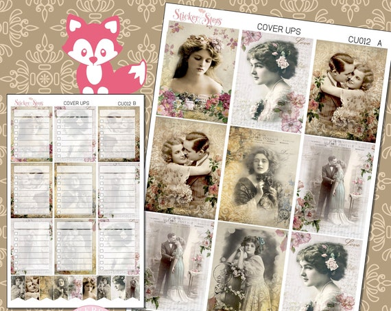 Ephemera Ver. 3 Planner Cover Ups Stickers Kit CU012