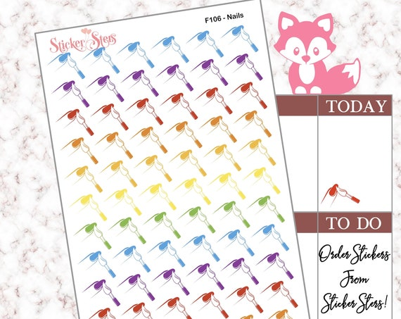 Nails | F106 Planner Stickers