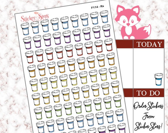 Rx | F114 Planner Stickers