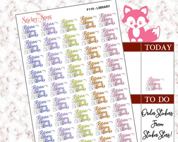 Library Books | F110 Planner Stickers
