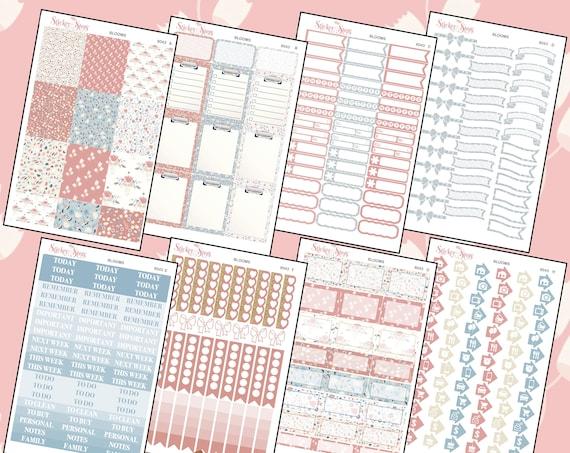 Blooms Color Kit Planner Stickers Set    8043