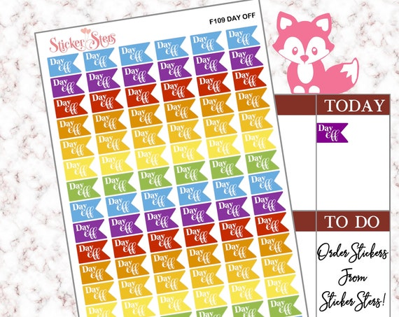 Day Off | F109 Planner Stickers