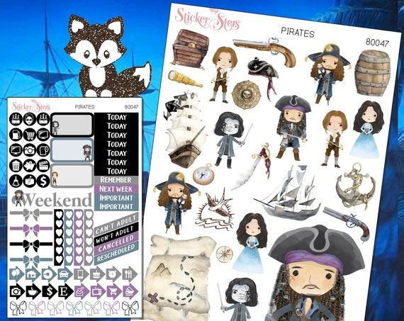 Pirates Planner Stickers Mini Kit | 8047