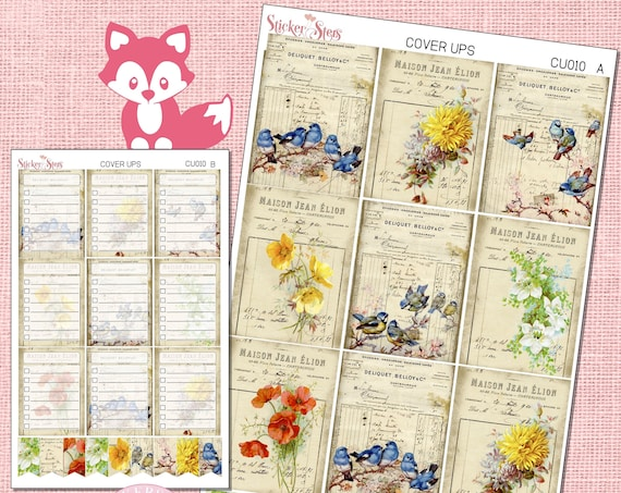 Ephemera Ver. 1 Planner Cover Ups Stickers Kit CU010