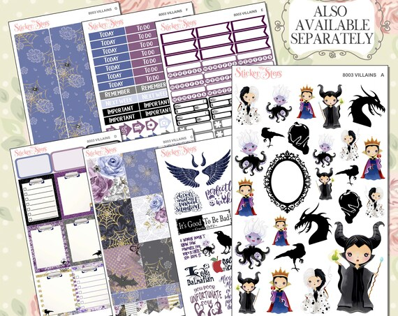 Villains Planner Kit & A La Carte Pages   | 8003