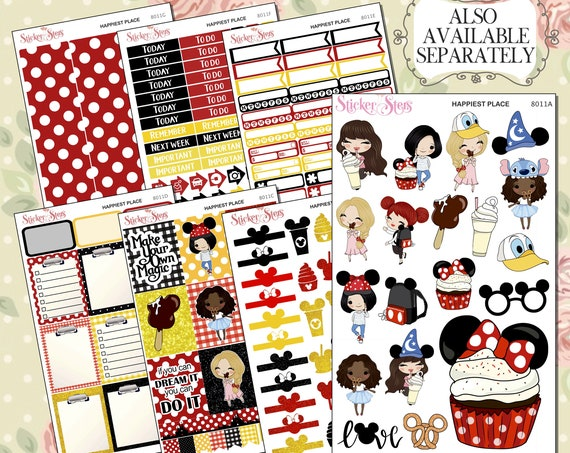 Happiest Place Planner Sticker | 8011