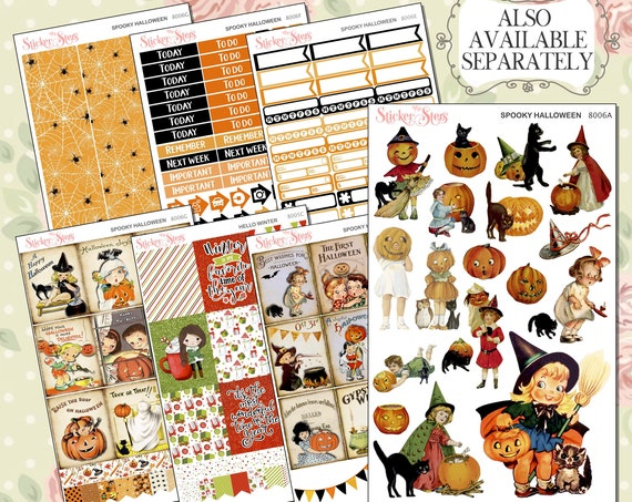 Spooky Halloween Planner Kit & A La Carte Pages   | 8006