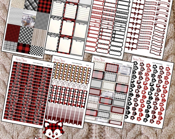 Cozy Sweater Color Kit Planner Stickers Set   8026