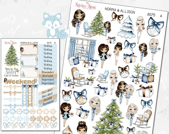Norma & Allison BFFs Forever (you pick your friend) Planner Stickers Stickers Mini Kit   8075