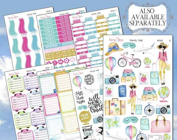 The Ultimate Travel Planner Sticker Kit 8066