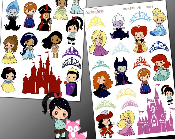 Princess Time Planner Stickers | 8067