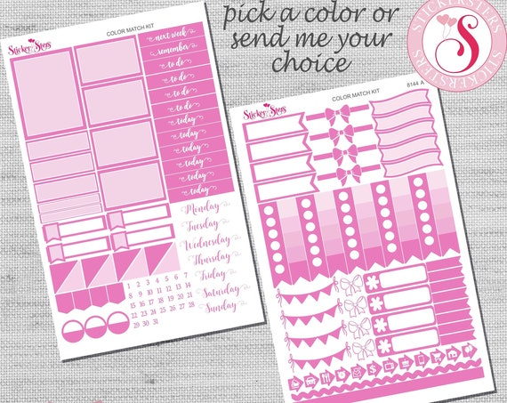 Color Match Companion Planner Stickers Kit | 8144