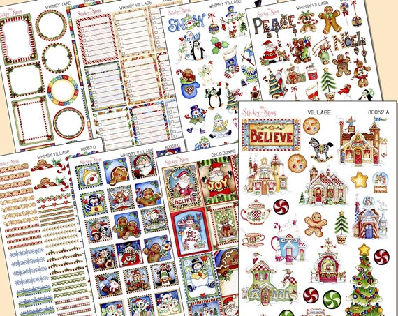 The Most Whimsical Christmas Themed Planner Sticker Kit EVER | 8052