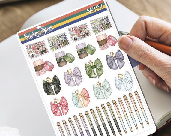 Wizard Washi Pens and Charms Tiny Sticker Set | M203