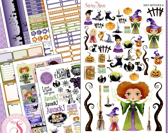 Witches Planner Kit & A La Carte Pages   | 8001