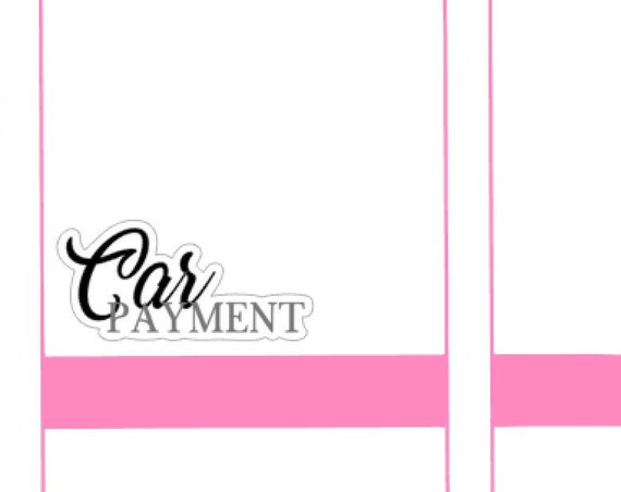 Car Payment Small Sheet Planner Stickers Set Cute and Functional made for all Planners