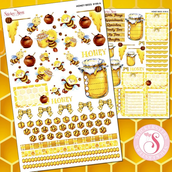 Honey Bees super cute for all planners, Cute and Functional | 8199