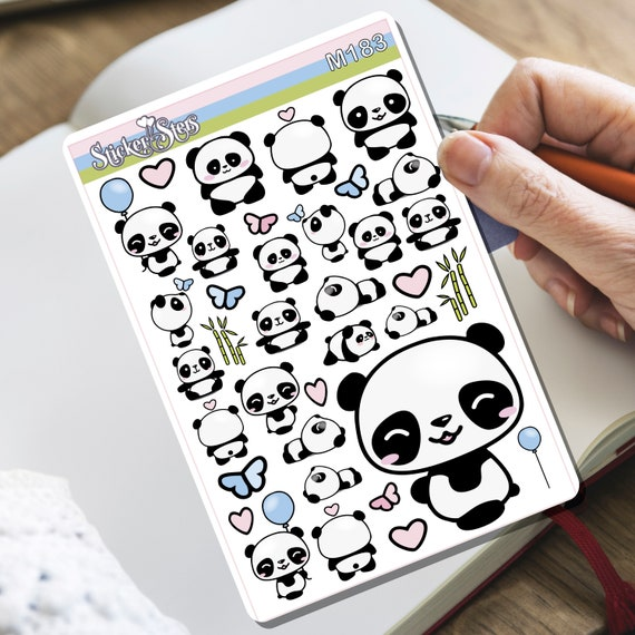 Cuddles Panda! Tiny Sticker Set | M183