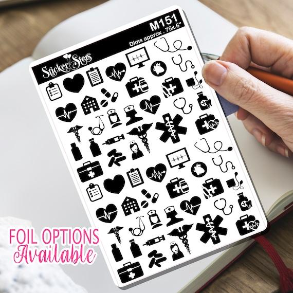 Stethoscope Nurse Doctor  Sticker Foil Option Available | M151