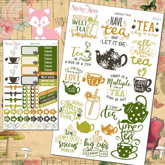 About Tea Planner Stickers Mini Kit 8013