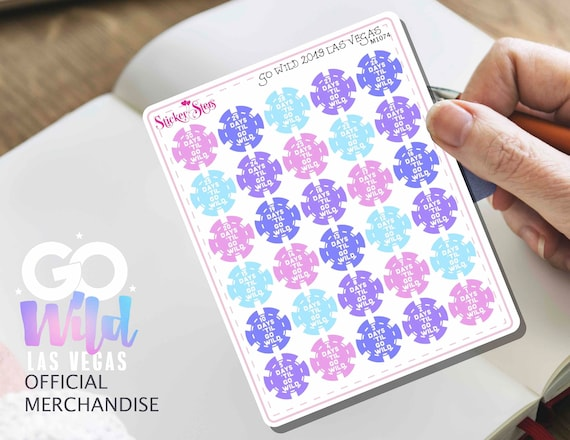 GO WILD Las Vegas 2019 30 day Countdown Small Sheet Planner Stickers Set Cute and Functional made for all Planners | M1074