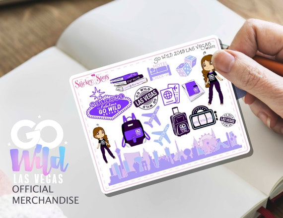 GO WILD Las Vegas 2019 Small Sheet Planner Stickers Set Cute and Functional made for all Planners | M1072