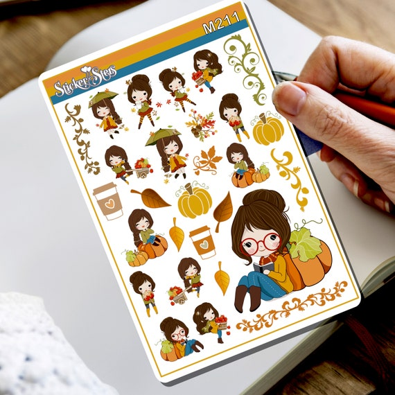Hello Autumn... Again! Tiny Sticker Set | M211