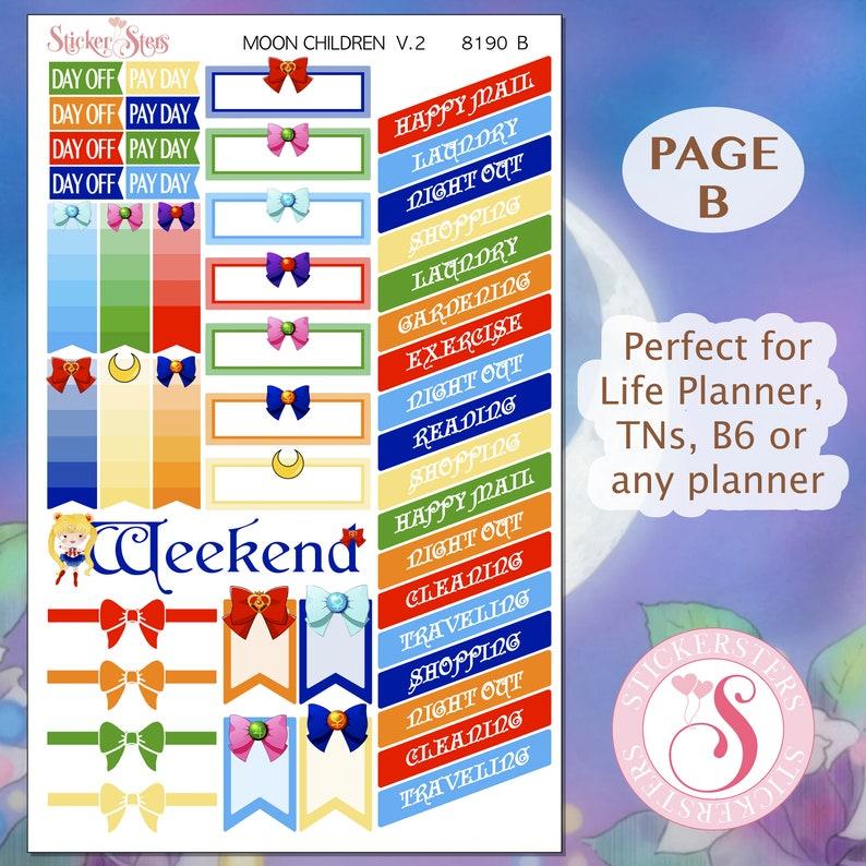 Moon Children Planner Stickers Stickers Mini Kit   8190