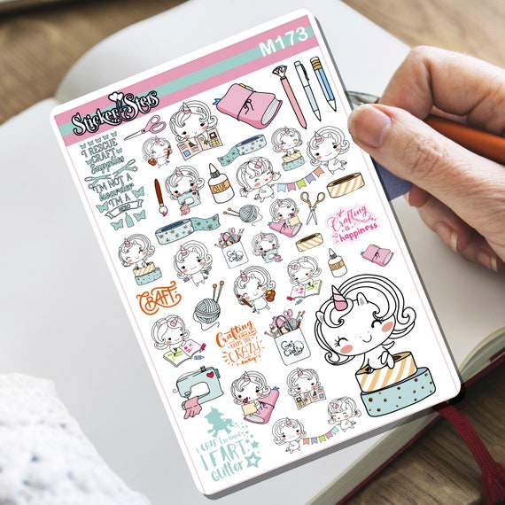 Crafty Unicorn! Tiny Sticker Set | M173