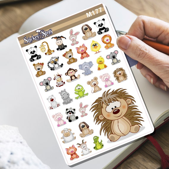 Furry Friends... Again Tiny Sticker Set | M177
