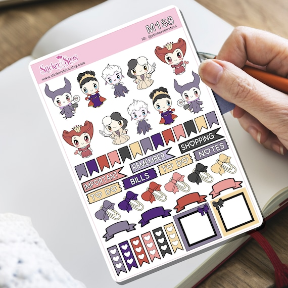 Villains Tiny Sticker Set | M188