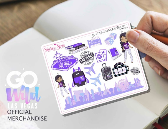 GO WILD Las Vegas 2019 Small Sheet Planner Stickers Set Cute and Functional made for all Planners | M1073