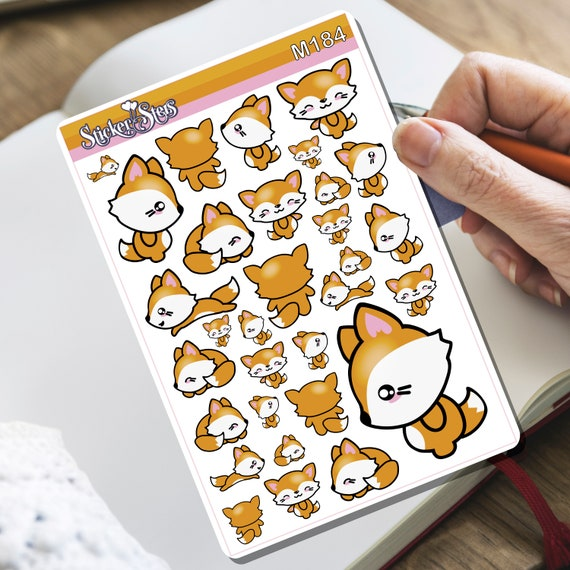 Zorrito Fox! Tiny Sticker Set | M184