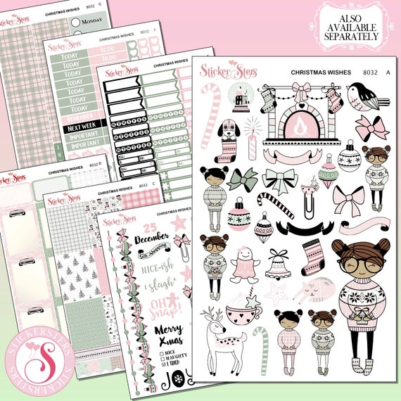 Christmas Wishes Planner Kit & A La Carte Pages     8032