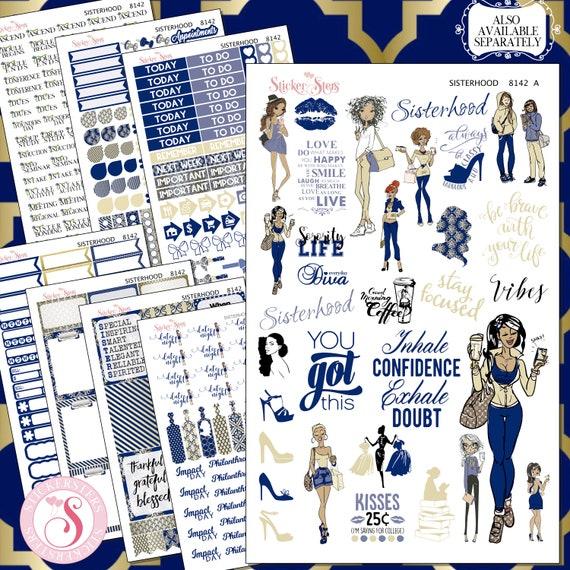 Sisterhood Sorority Sisters Planner Kit & A La Carte Pages   | 8142