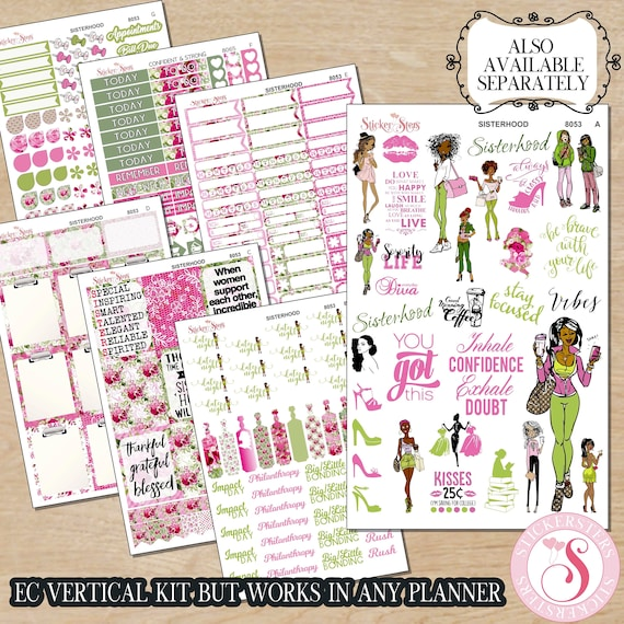 Sisterhood Sorority Sisters Planner Kit & A La Carte Pages   | 8053