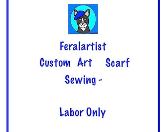 Custom Sewing Top Knot Headband Me Your FQ I Will Sew Artsy ScarfSewing ServiceArtistic Scarf Tie Up Hair Accessory