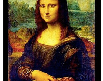 Leonardo Da Vinci Mona Lisa Art Post Card,Men's art socks,Artsy,Artists,Teachers,Artsy Apparel, Gift for Women