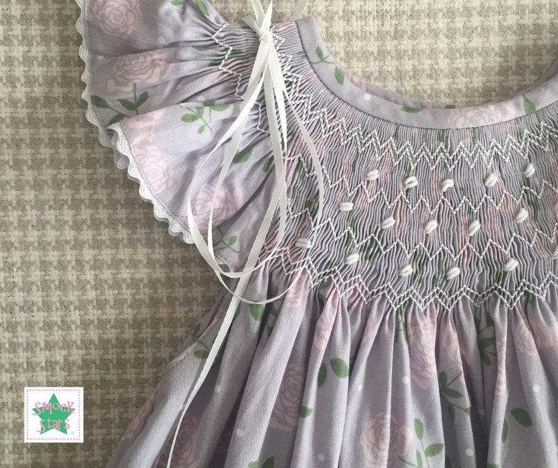 ca5d1795eead Smocked Easter Dress Girls Smocked Dresses Lavender and   Etsy