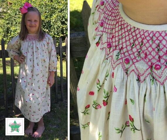 3946f0ce8 Smocked Rosebud Dress Smocked Fall Dress Smocked Winter