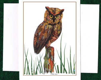 An Owl - Greeting Card