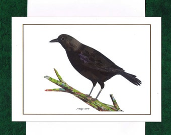 A Crow - Greeting Card