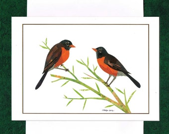 A Pair of Robins - Greeting Card