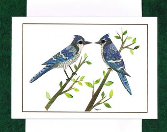 Pair Of Blue Jays - Greeting Card