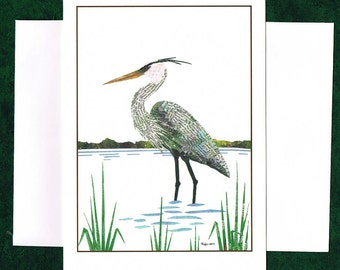 Great Blue Heron - Greeting Card